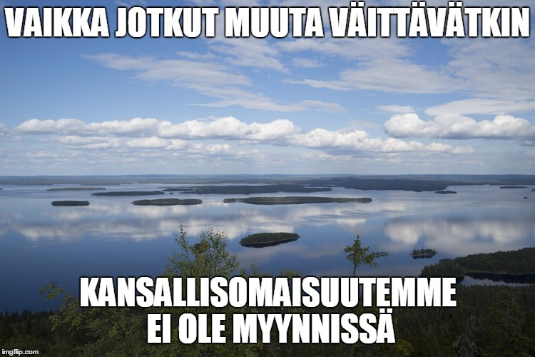 Suomen luonto ei ole myynnissä